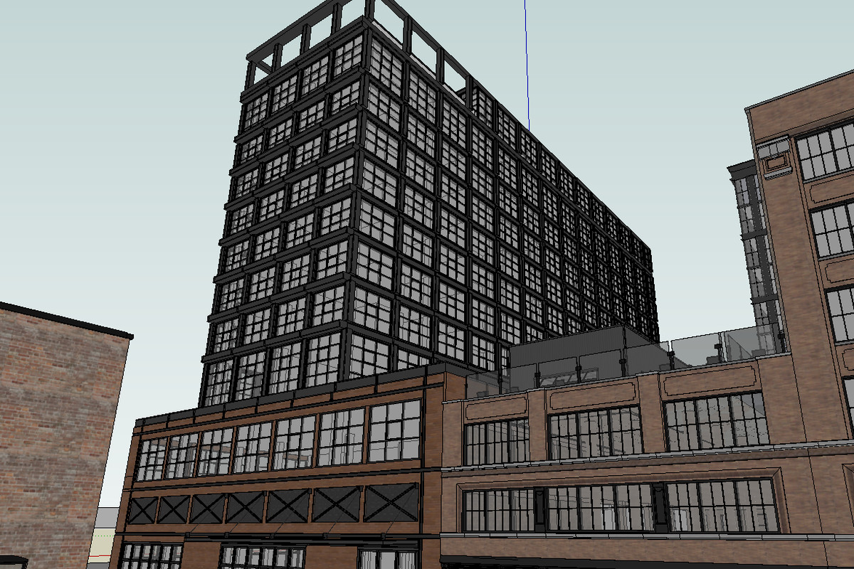 A rendering of the Hoxton Hotel on Fulton Market