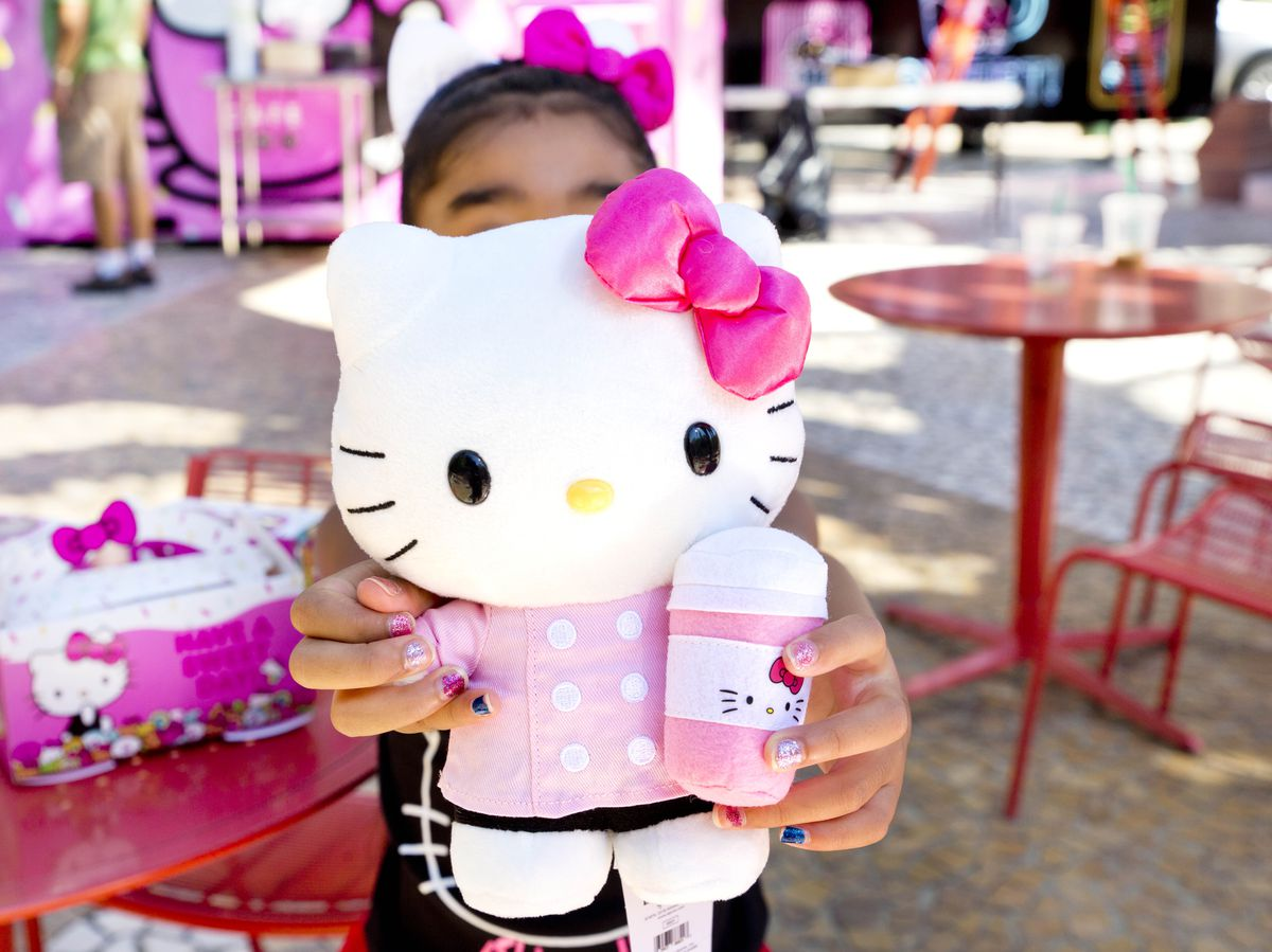Merchandise at the Hello Kitty Cafe