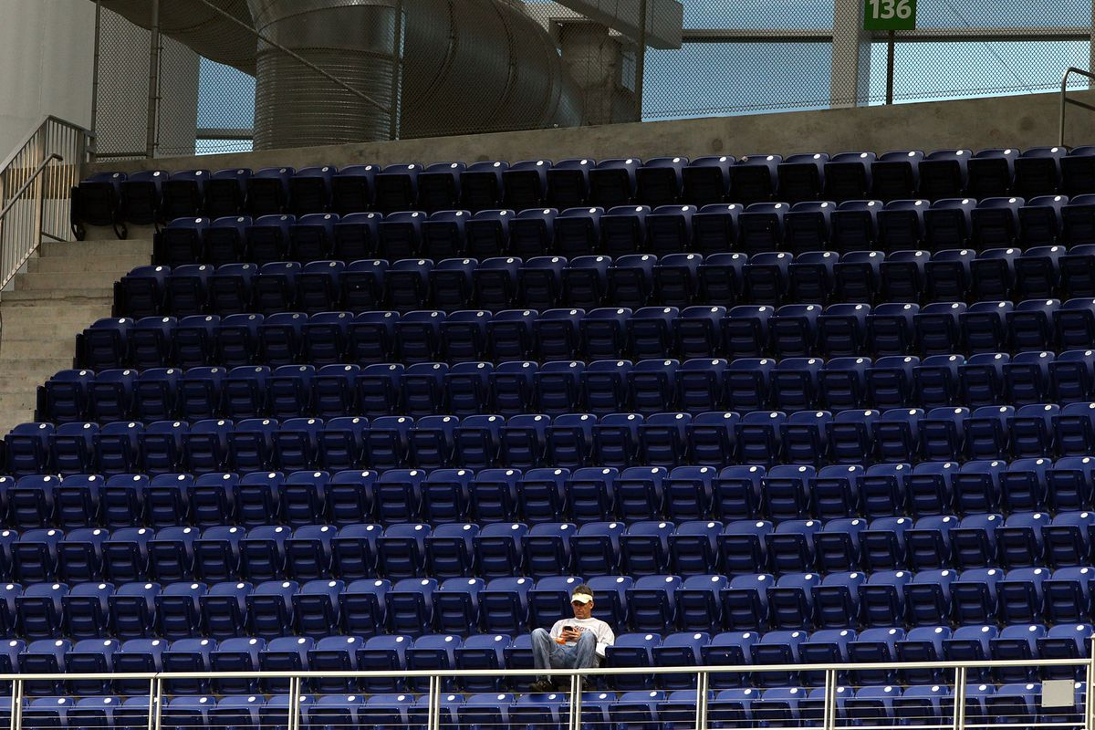 Nobody went to Wednesday's Marlins game in Miami