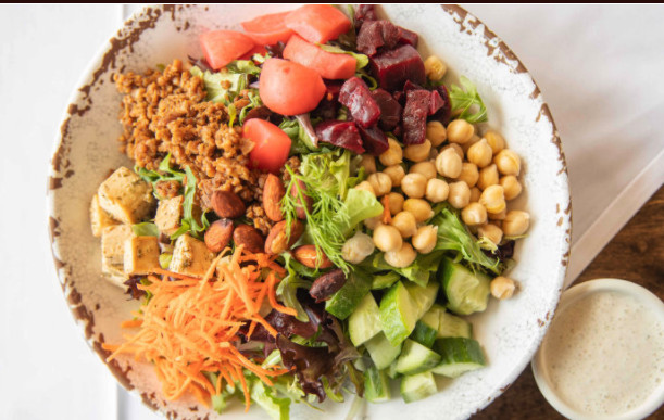 The M chopped salad at M Cafe in Los Angeles