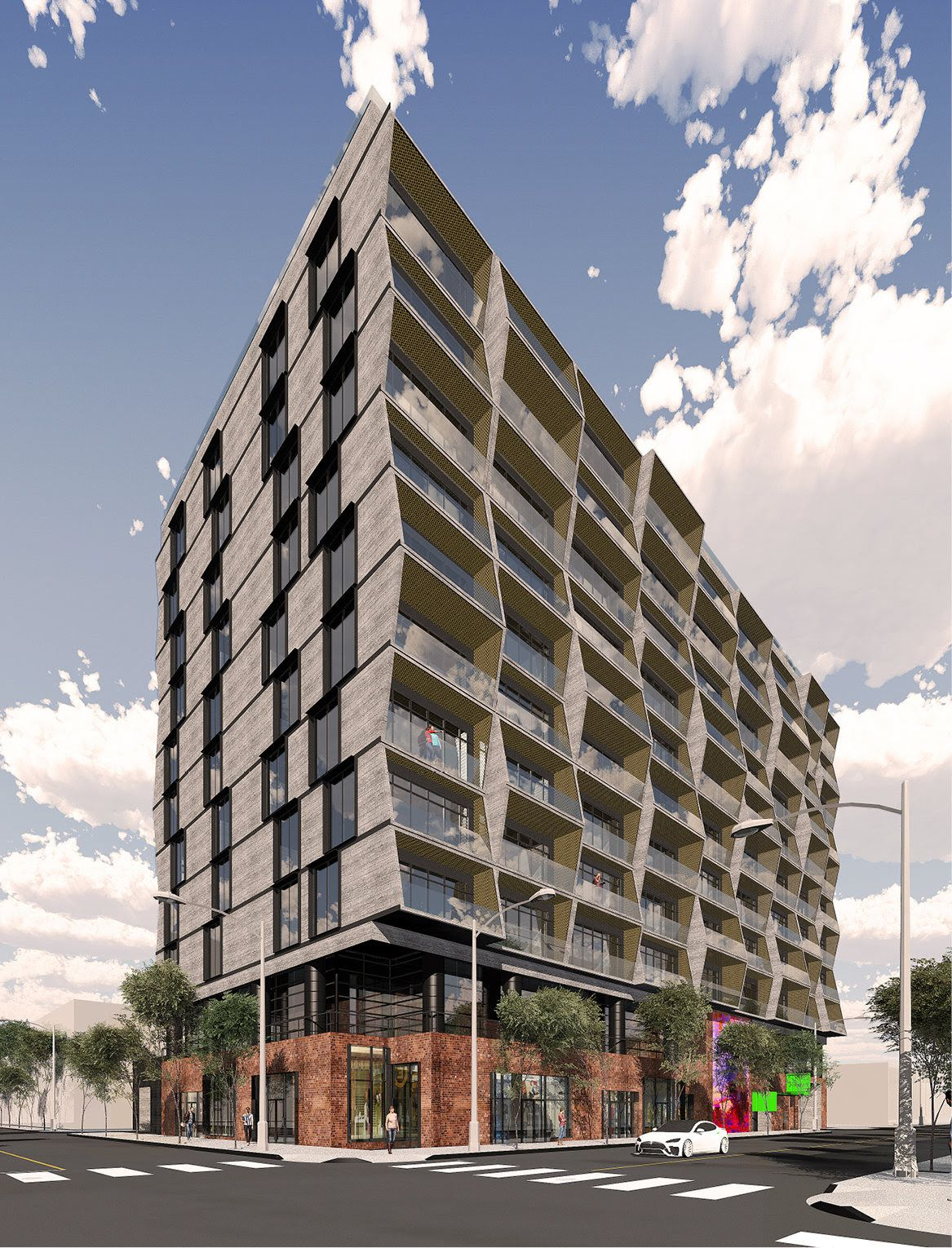 Rendering of new Arts District building