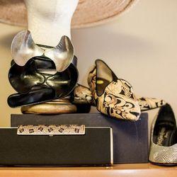 Yves Saint Laurent shoes with Alexander McQueen belts