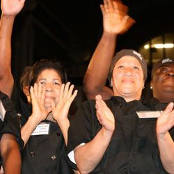 The current class of students at the DC Central Kitchen, soon to graduate and totally excited to be there.