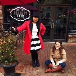 Vina Sananikone and Monica Carroll Jones at Society Fair.
