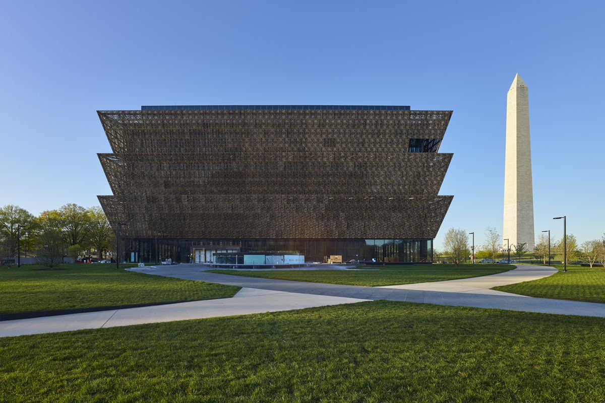The new National Museum of African American History and Culture in Washington, D.C.