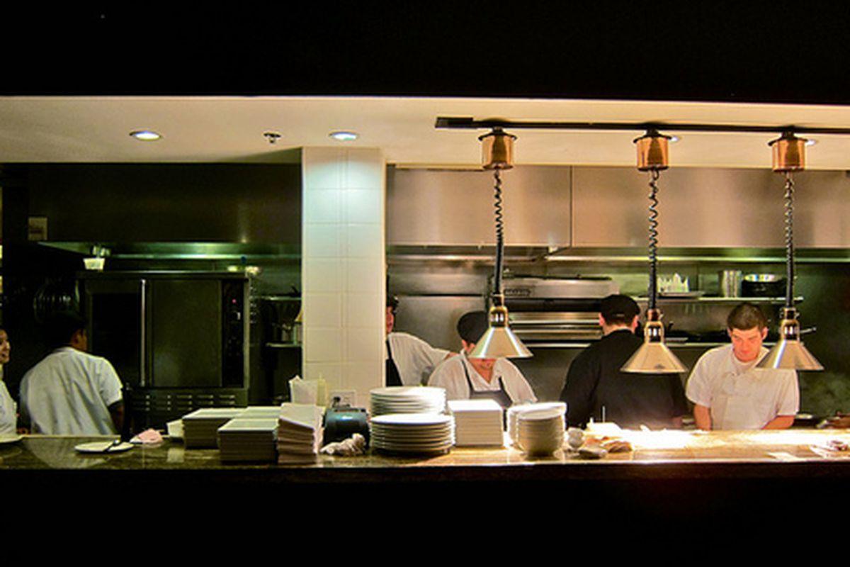 In the kitchen at Fraiche, Culver City.
