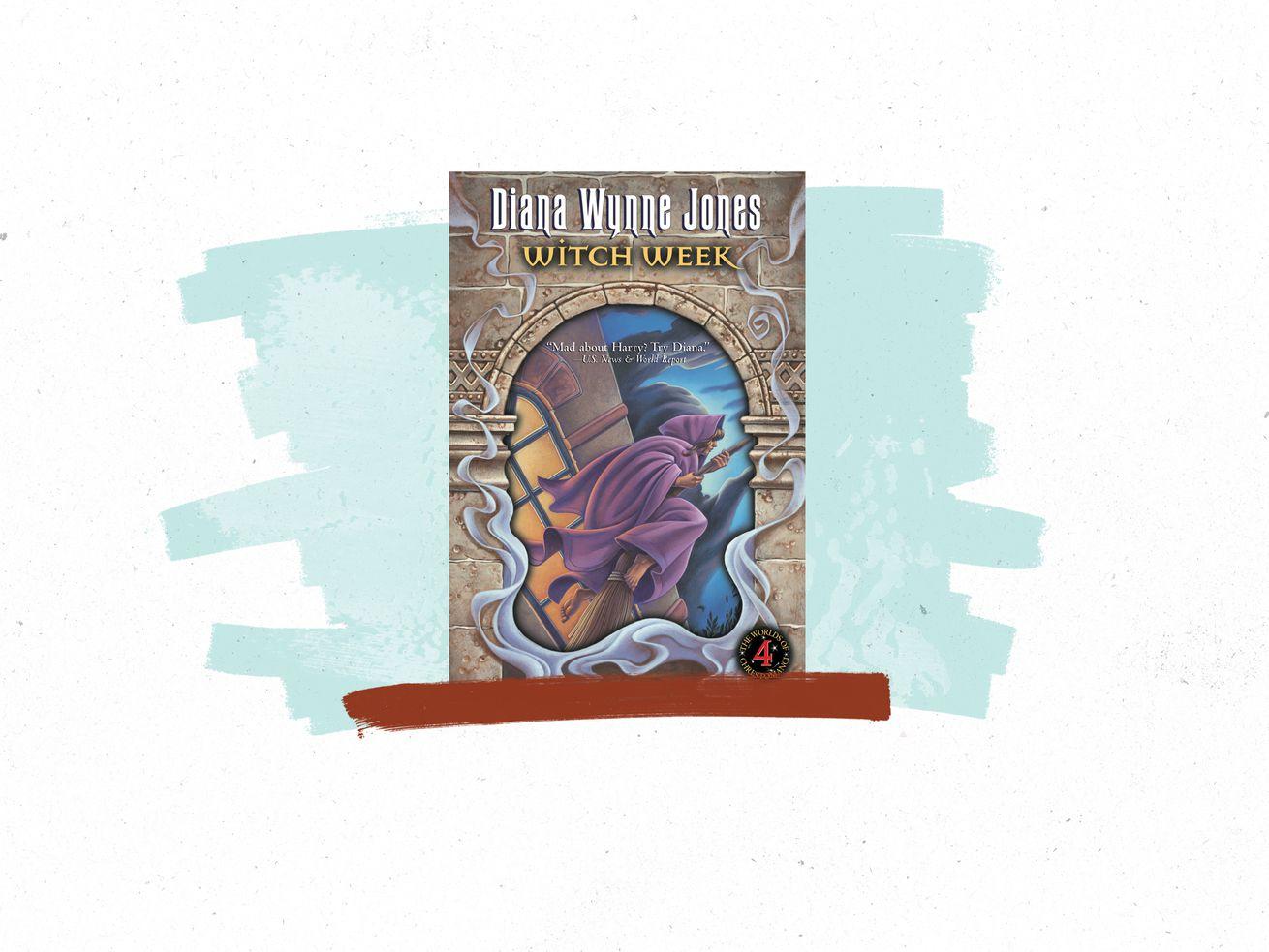 La couverture du livre de Diana Wynne Jones Witch Week.