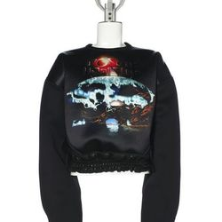 """<b>Balenciaga</b> 'Wave' Rebel Top, <a href=""""http://www.balenciaga.com/en_US/shop-products/clothing/women/tops/balenciaga-wave-rebel-top_306598TDA14.html#!{%22products%22:{%22306598TDA14%22:{%22color%22:8490,%22size%22:%22S%22}}}"""">$3,150</a>"""