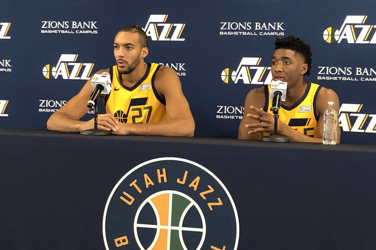 7e3a120ea Utah Jazz Media Day Roundup  Rudy Gobert says to expect Utah to be the best  they have ever been