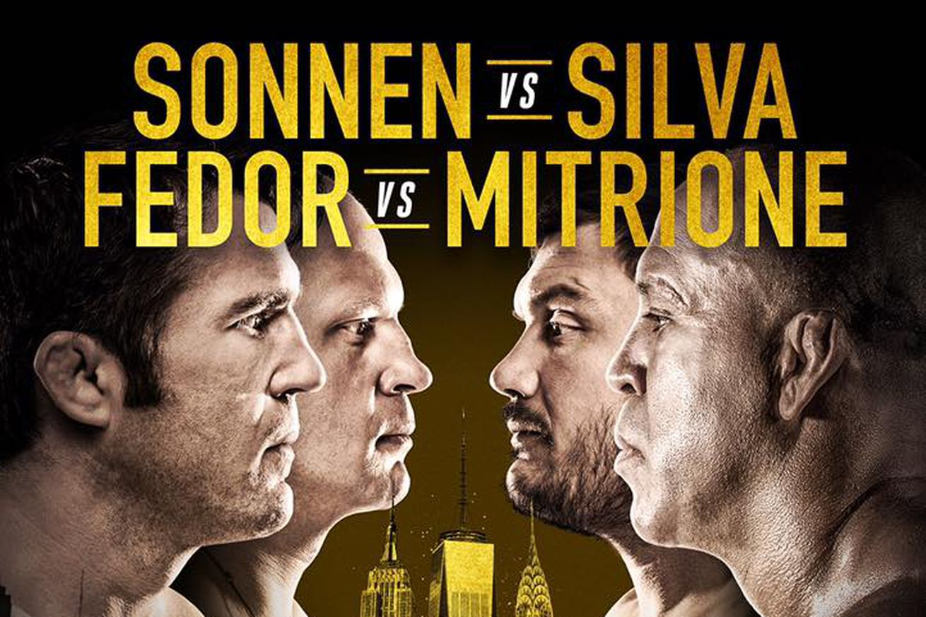 Bellator 180 results: Sonnen vs Silva streaming play by play updates TONIGHT on PPV