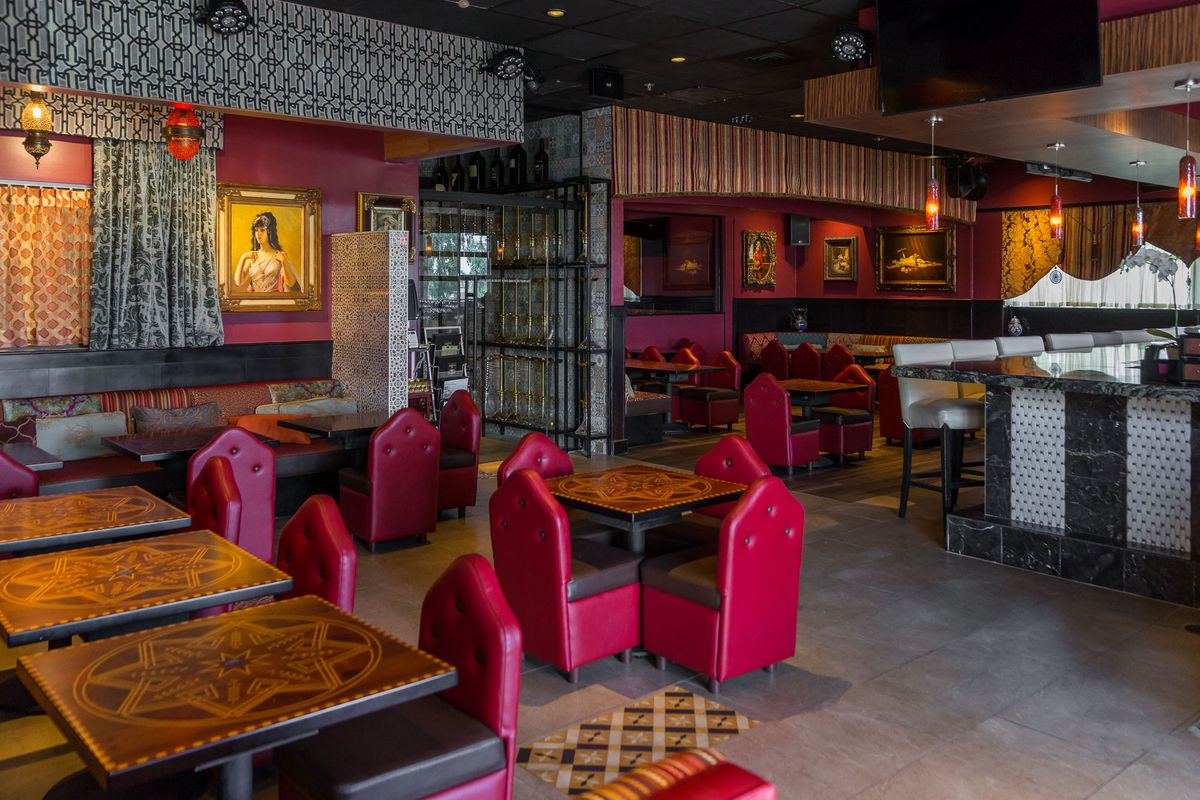 The hookah lounge and bar at Paymon's