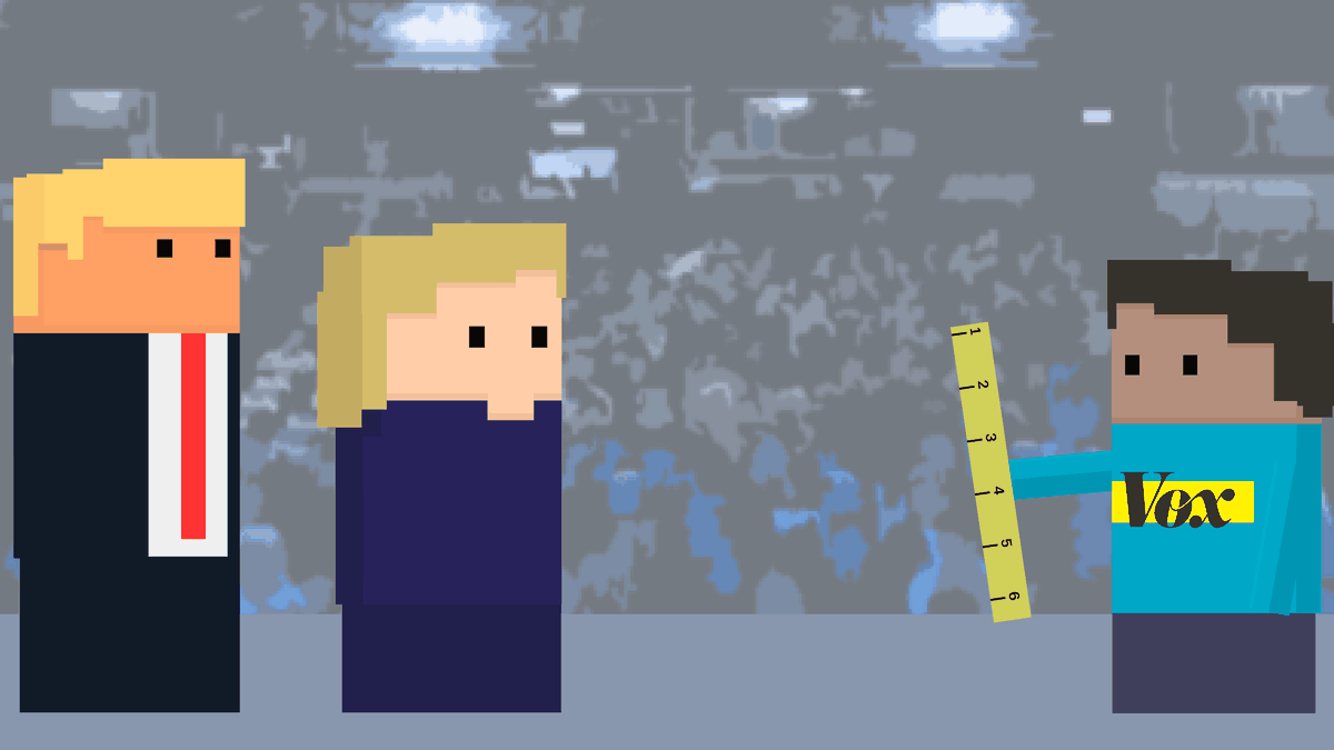How Tall Are Hillary Clinton And Donald Trump Compared To You Vox - How tall is hillary clinton