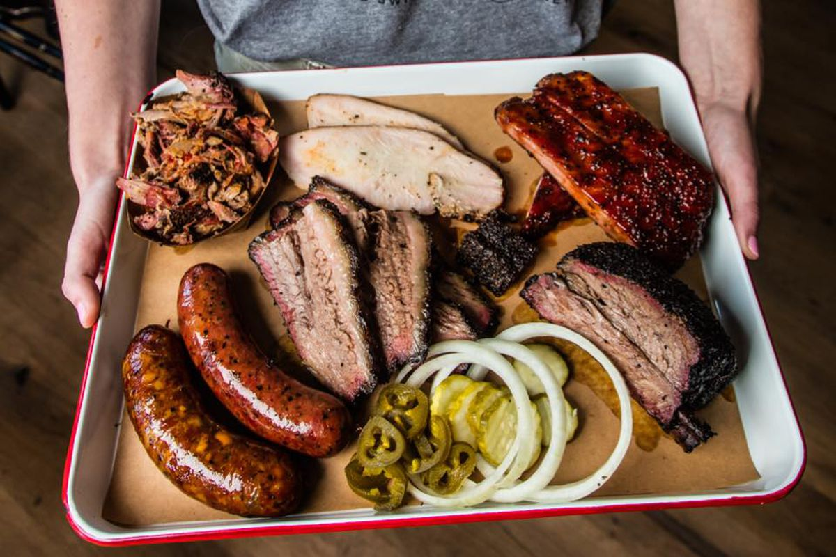 A tray of barbecue from The Switch