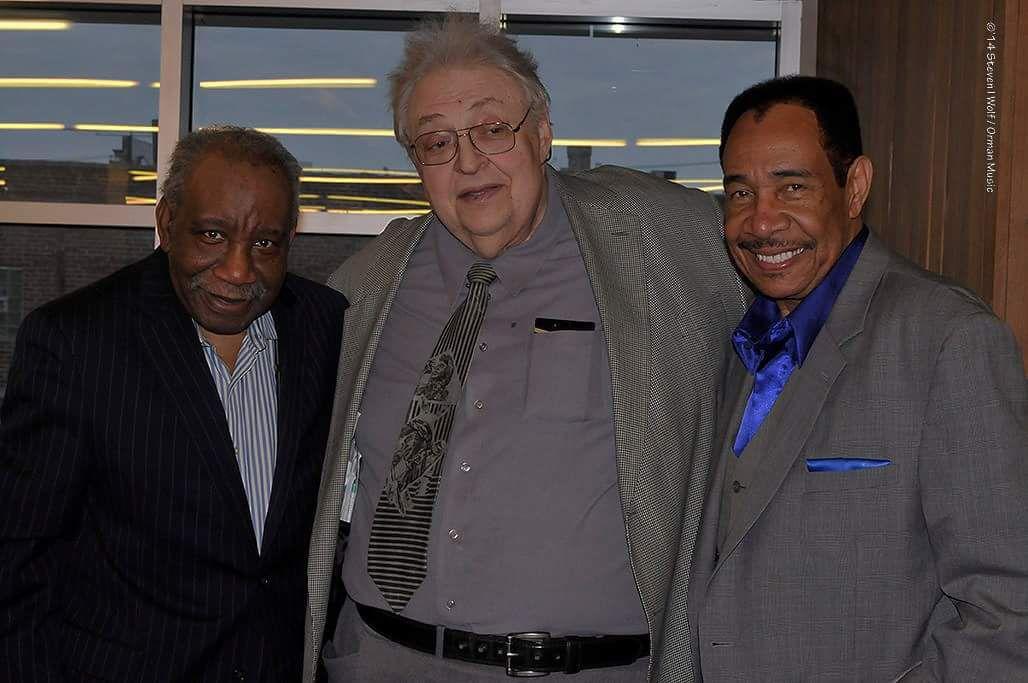 "Jay B. Ross with Jerry ""Iceman"" Butler (left) and Gene ""Duke of Earl"" Chandler."