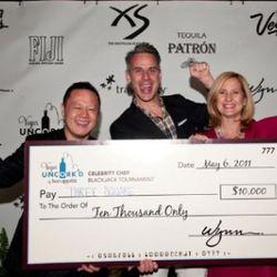 Blackjack winner Jet Tila, Bon Appetit E-I-C Adam Rapoport,  Julie Murray founder of Three Square food bank charity .