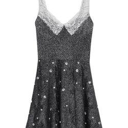 Lurex dress, $125