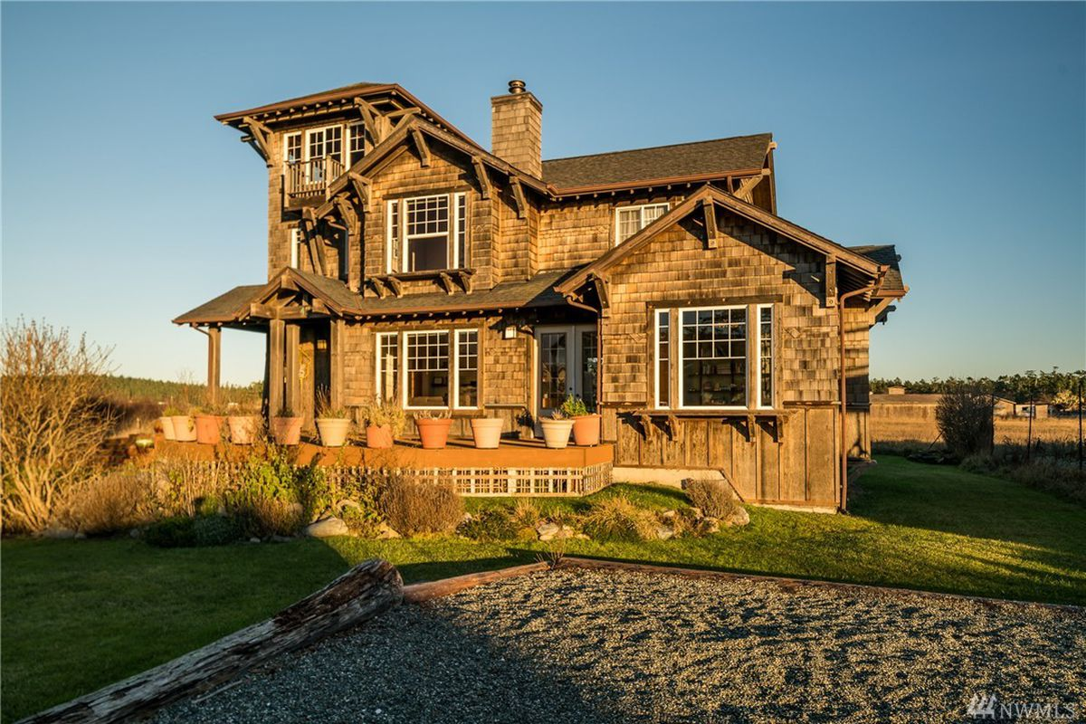Find the hidden room atop this lopez island home curbed for Homes for sale with hidden rooms