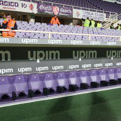 Fiorentina team bench