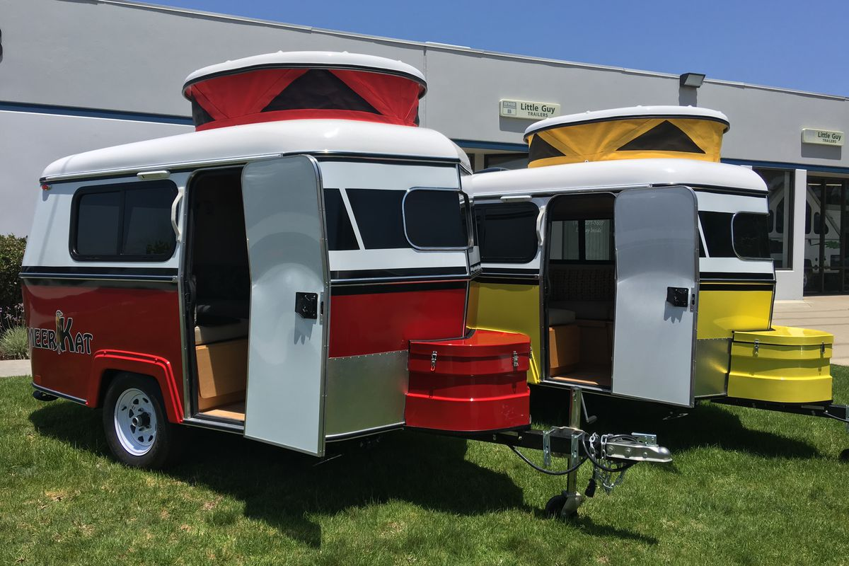 The tiny Meerkat camper can be towed by almost any car Curbed
