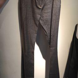 Metallic flare pants, $60