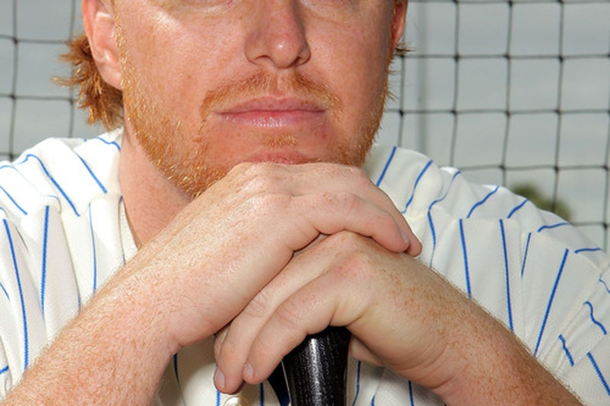 PORT ST. LUCIE, FL - MARCH 02: Justin Turner #2 of the New York Mets poses for photos during MLB photo day on March 2, 2012 in Port St. Lucie, Florida.  (Photo by Marc Serota/Getty Images)