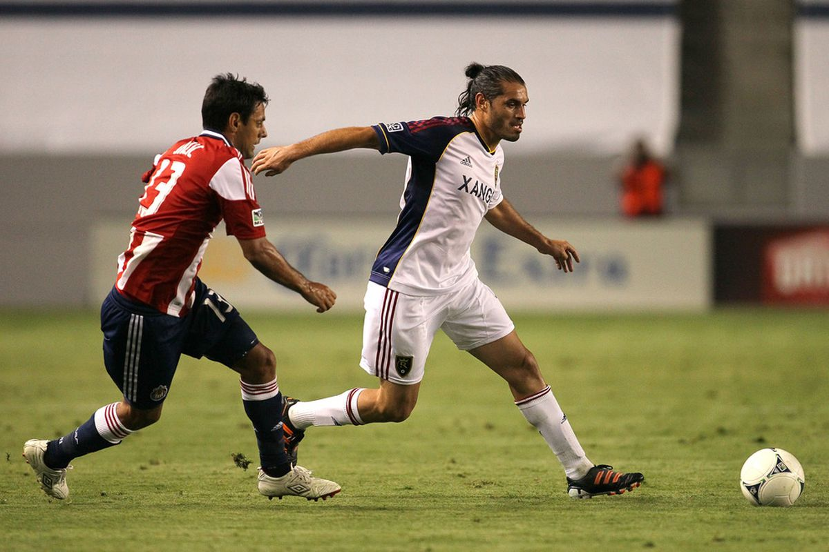 On Saturday there simply was nobody better than Fabian Espindola, his two goals helped secure the 3-0 win for Real Salt Lake over Chivas USA. (Photo by Victor Decolongon/Getty Images)