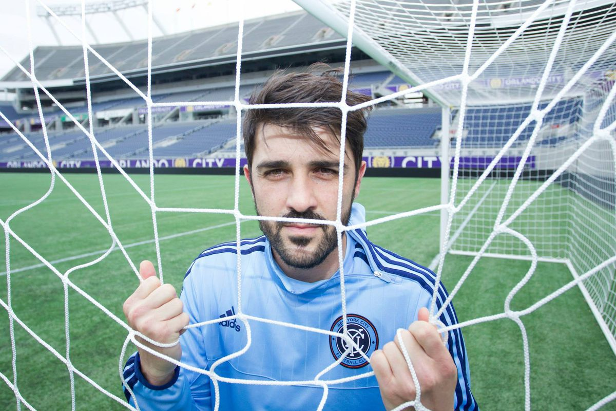 David Villa is looking for goals, starting this evening.