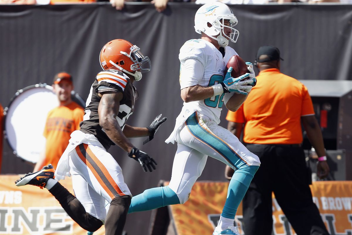 Brian Hartline scored the first of hopefully many touchdowns this season.