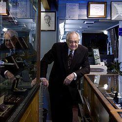 Robert McKay is seen inside his shop.