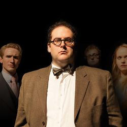 """Production members of """"The Box"""" include Andrew Robertson, Daniel Fenton Anderson, Christian J. Swenson and Jessamyn Svensson. Swenson is the playwright."""