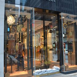 Ted Baker, down the block, was closed.