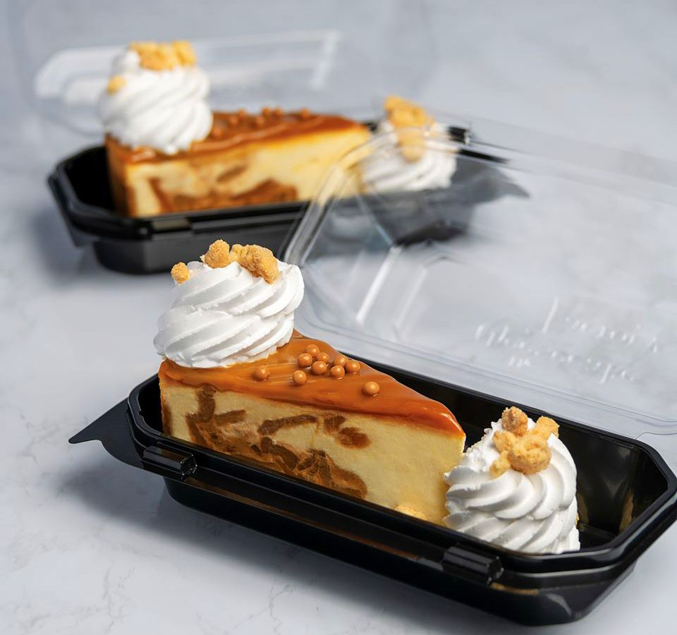 Caramel apple cheesecake on the pickup menu at The Cheesecake Factory.