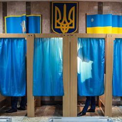Ukranian polling booths in 2014