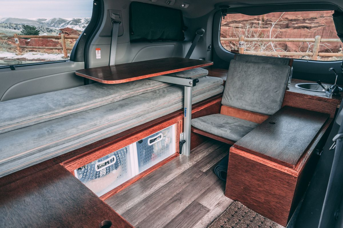 Toyota Sienna Camper Sleeps Two For 8 5k Curbed