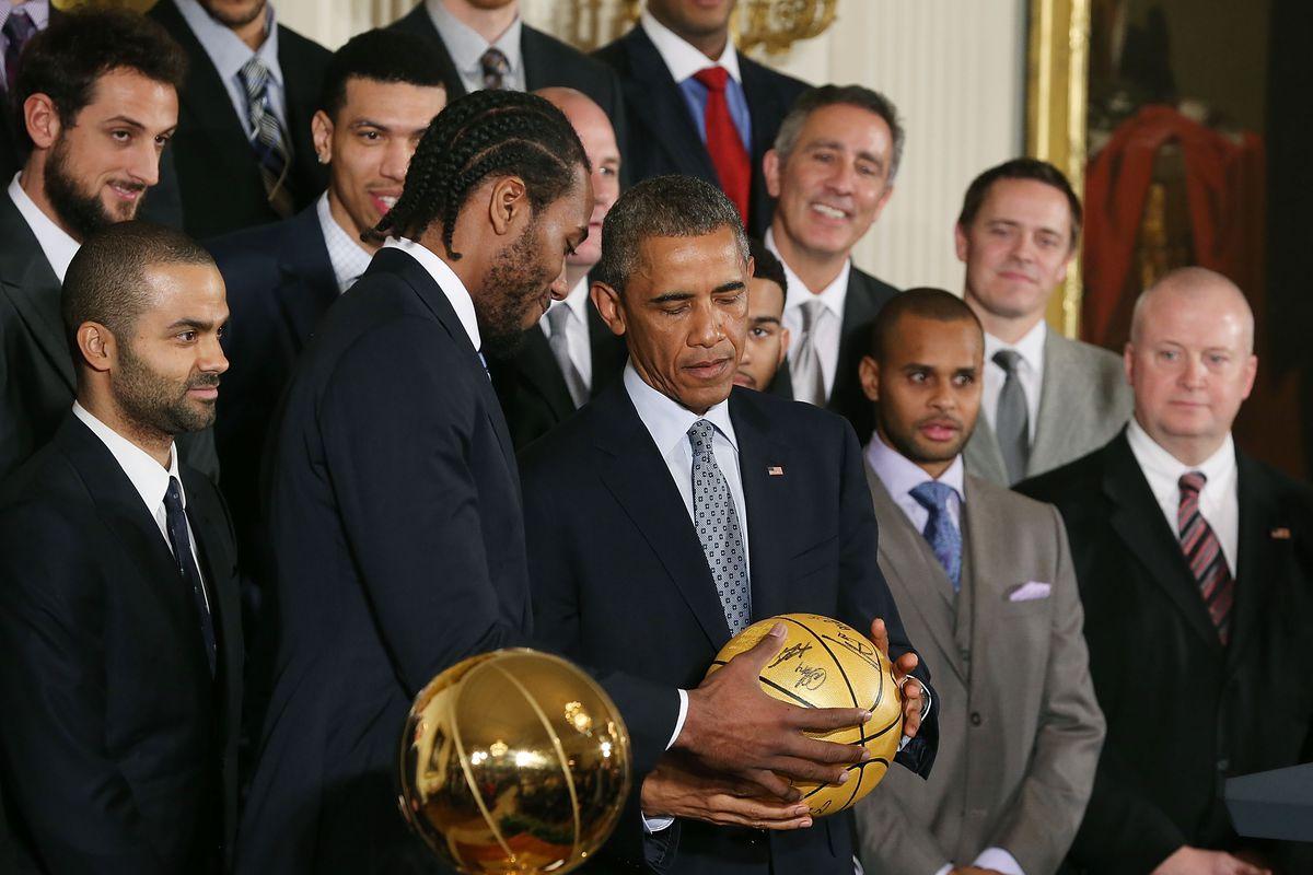 President Obama Welcomes NBA Champion San Antonio Spurs To White House