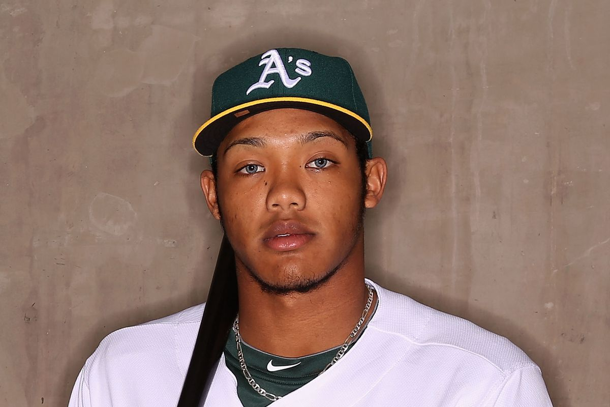 Oakland short stop Addison Russell got his first bomb of the AFL yesterday.