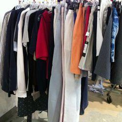 The sad menswear rack