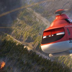 """Blade Ranger is one of the firefighting aircraft in """"Planes: Fire & Rescue."""""""