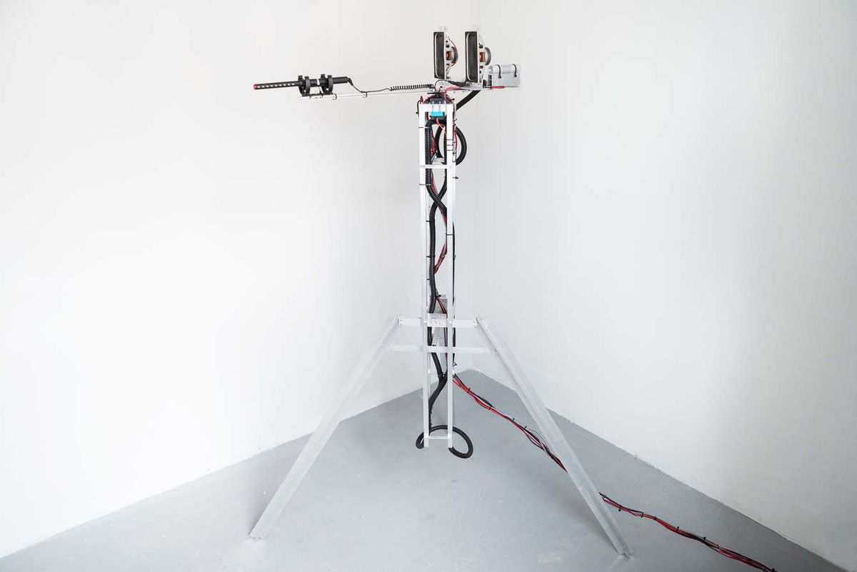 This machine records ambient noise to remix sounds from