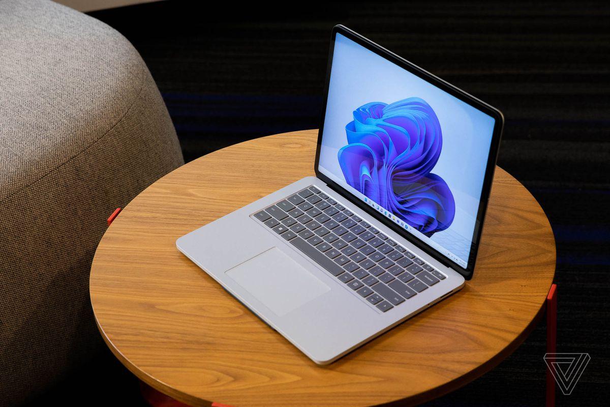 Laptop mode on the Surface Laptop Studio.