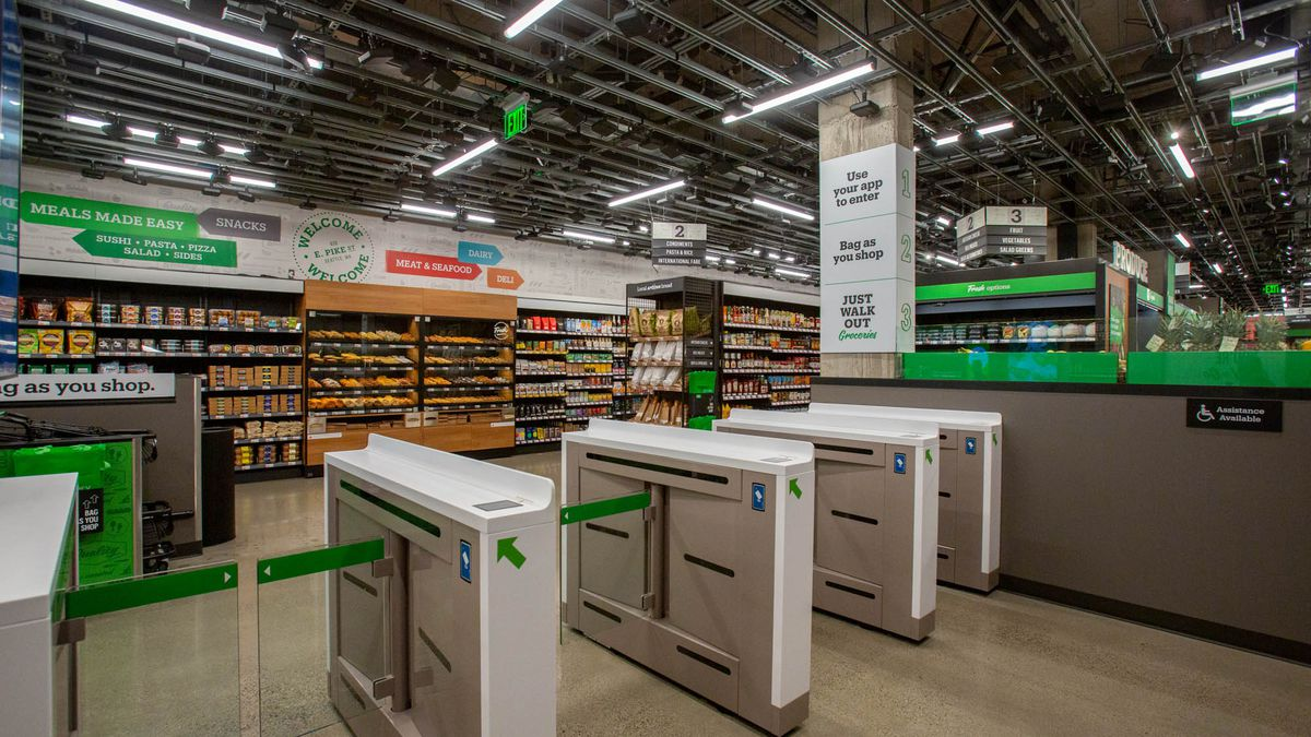 Amazon's First Cashierless Supermarket, Amazon Go Grocery, Opens in Seattle  - Eater Seattle