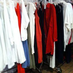 A jumble of dresses