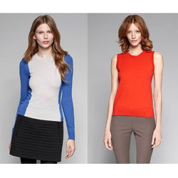 "<a href=""http://www.theory.com/PORSHA/883591763369,default,pd.html?start=27&cgid=womens-just-in""><b>Theory</b> Porsha Fine Wool Sweater</a> $245 and <a href=""http://www.theory.com/Sweater-vest/C0711709,default,pd.html?dwvar_C0711709_color=J9K&start=28&cgi"