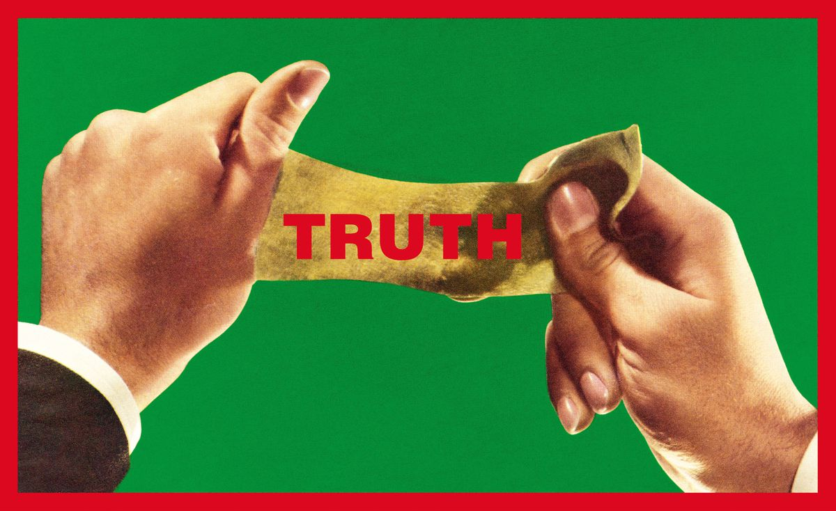 """Barbara Kruger, """"Untitled (Truth),"""" 2013. Collection of Margaret and Daniel S. Loeb. Digital image courtesy of the artist."""