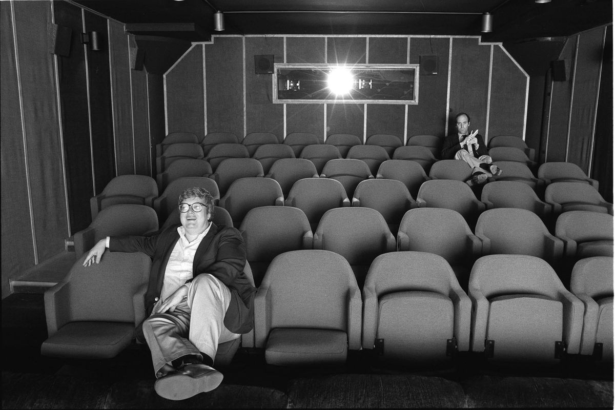 Roger Ebert and Gene Siskel in a movie theater