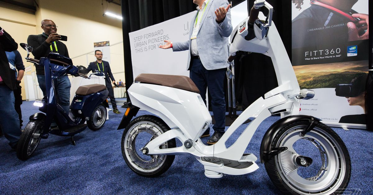 Foldable electric scooters keep getting weirder at CES