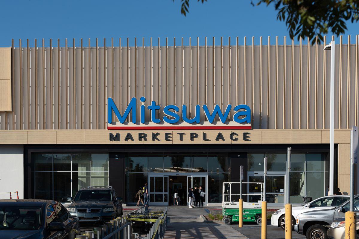 Outside Mitsuwa Market in Torrance, CA.