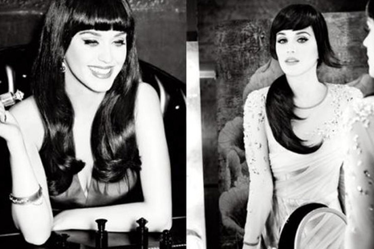Katy Perry, and her extensions, for hair-tool brand <strong>ghd</strong>'s fall 2012 campaign