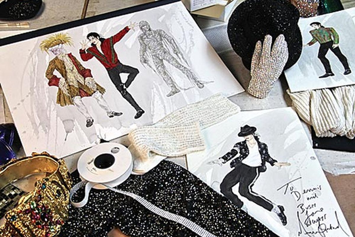 """Michael Jackson's last costume sketches. Image via <a href=""""http://stylenews.peoplestylewatch.com/2009/06/30/exclusive-look-michael-jackson%e2%80%99s-last-costume/"""">People StyleWatch</a>"""
