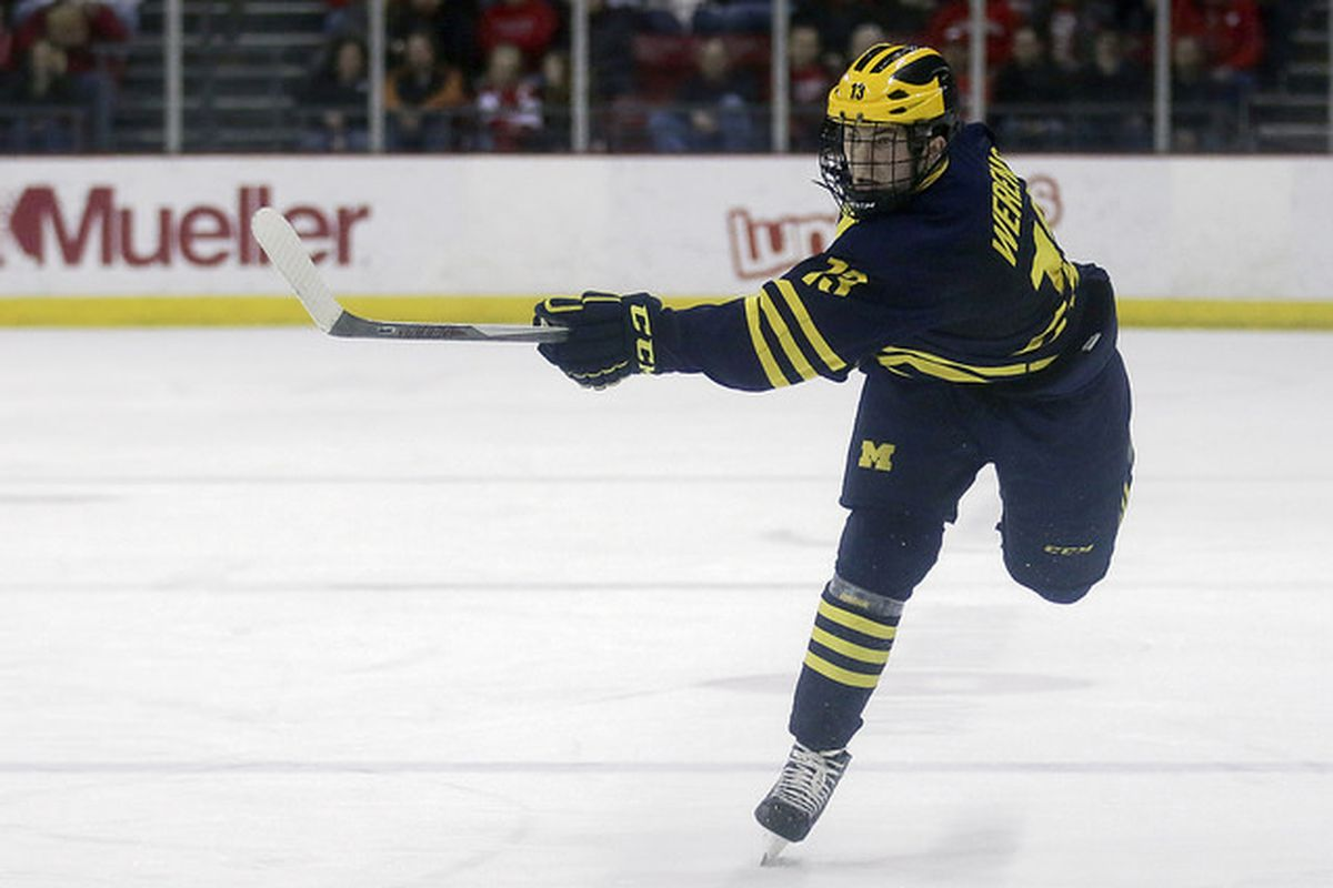 Michigan sophomore defenseman Zach Werenski is one of the big reasons the Wolverines are picked to win the Big Ten.